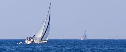 Wind power driving yacht - iStockPhoto
