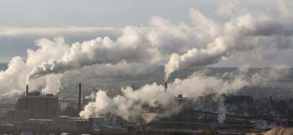 Greenhouse Gases Created By Industrial Pollution - iStockPhoto