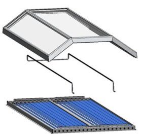Expanded view of the assemby of the Chromasun MCT hybrid solar panel