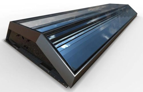 Example of Hybrid Solar Panel - the MCT Panel from Chromasun as detailed further at the bottom of the page