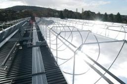 Solar Thermal Prototype on Australian National University Building Rooftop - Chromosun