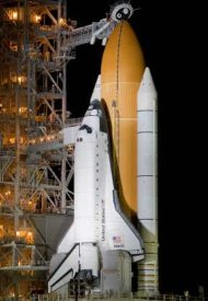 Hydrogen Fuel in Main Booster of Space Shuttle - iStockPhoto