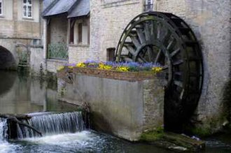 Water Wheels As In Bayeux Normandy - iStockPhoto