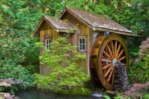 Water Wheels As In Old Mill