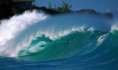 Wave Energy Demonstrated At Waimea Bay - iStockPhoto