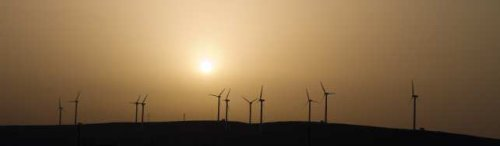 Panorama of Windfarm - iStockPhoto