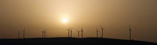 Panorama of Windfarm - iStockPhoto