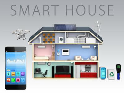 Idealised Diagram of a Smart House