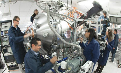 The compact fusion reactor under construction