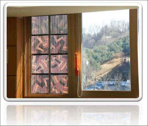 Photovoltaics incorporated in a window by the Australian Dyesol company
